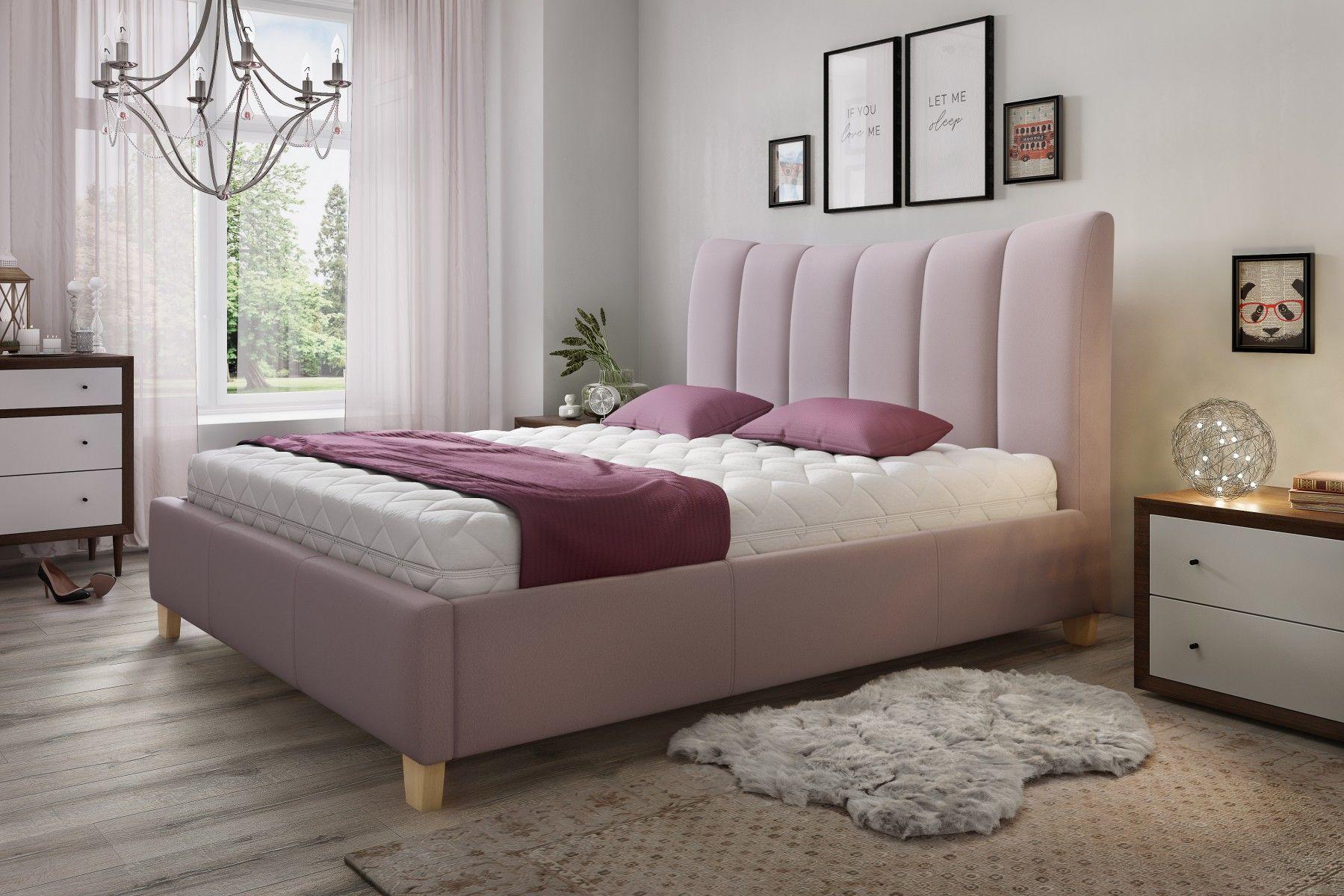 Łóżko tapicerowane ARIEL 140x200 z pojemnikiem i stelażem - tapicerka do wyboru!