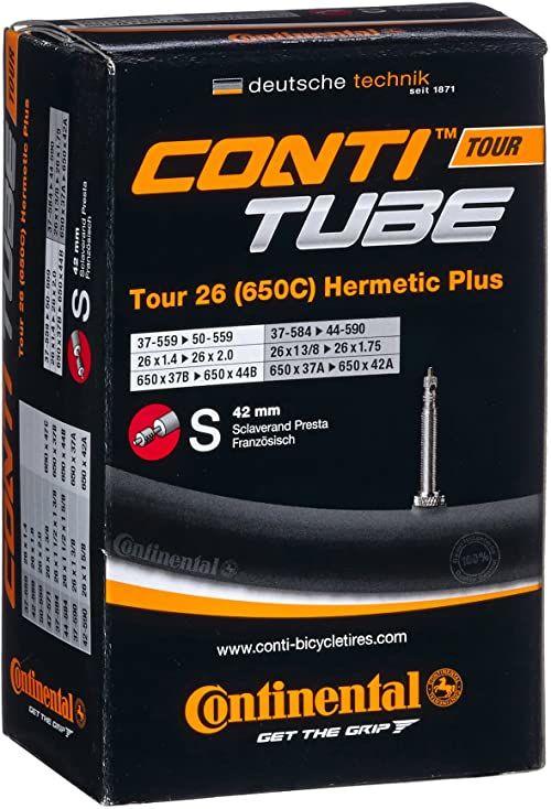 Continental Dętka rowerowa Tour 26 Hermetic Plus, czarna, 0182271