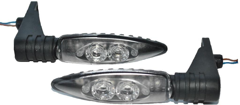 2x Nowe Ory Kierunki Kierunkowskazy LED Diody do BMW R 1200 GS R 1200 R S HP2 Sport K 1200 R / S / Sport F 800 S / ST F 800 GS / R F 650 GS 2.Zyl. Bmw Nr.7708048