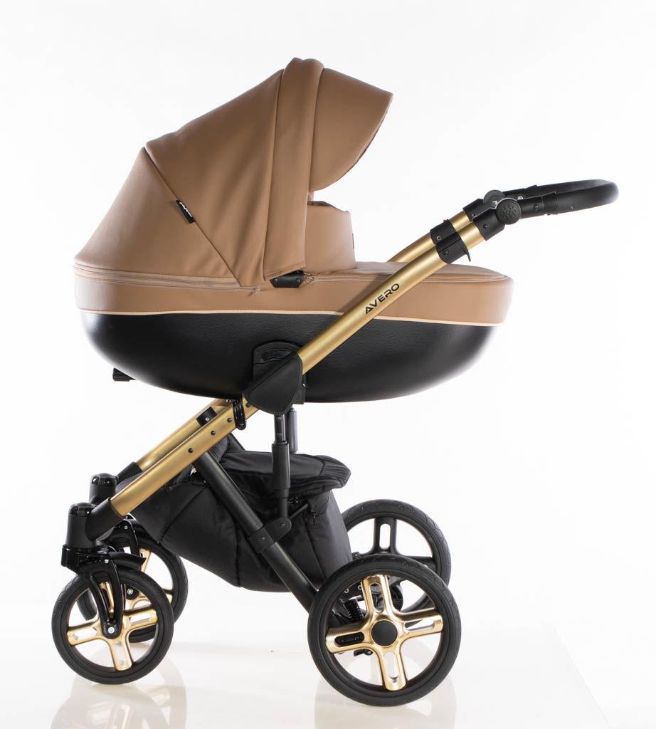 Avero II - kol. Camel Gold - 3w1 - Wózek dziecięcy - Kajtex