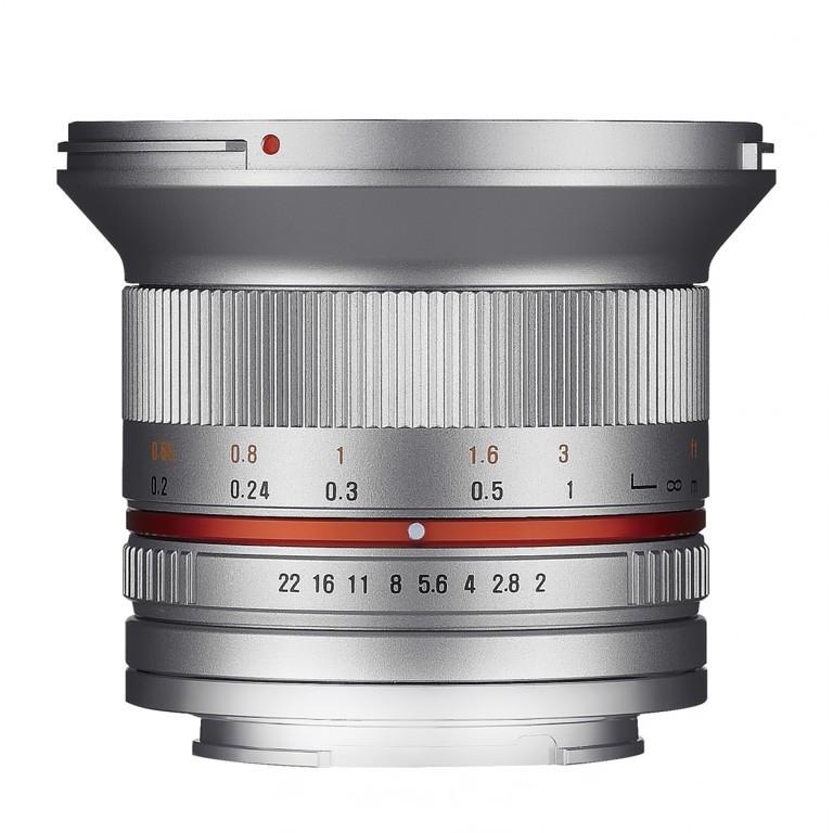 Obiektyw Samyang 12mm F2,0 Sony E srebrny
