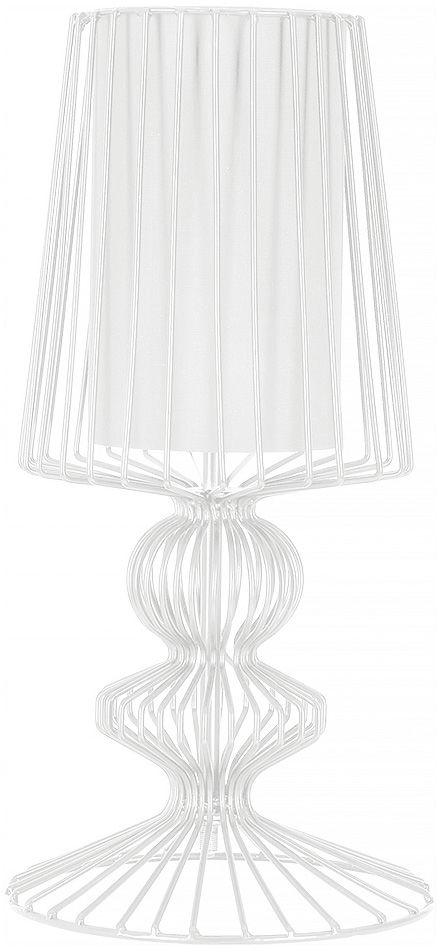 Lampa stołowa Aveiro 5410 Nowodvorski Lighting stalowa biała oprawa w dekoracyjnym stylu