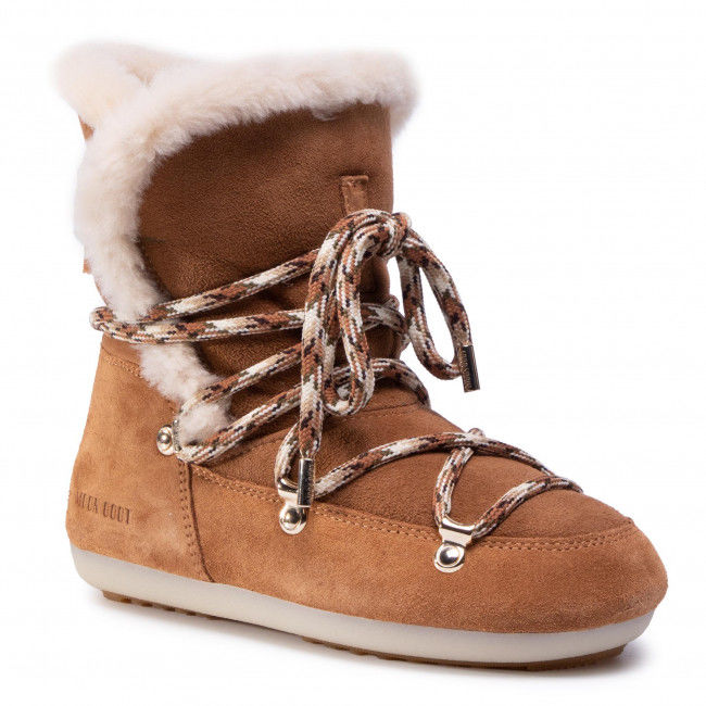 Śniegowce MOON BOOT - Dk Side High Shearling 24300100001 Whisky/Off White