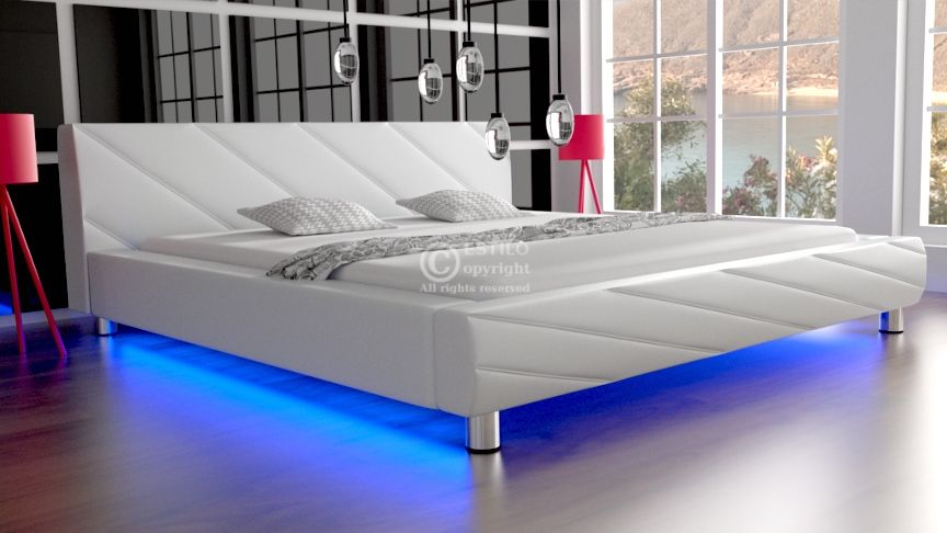 Łóżko do sypialni Apollo skóra naturalna 160x200