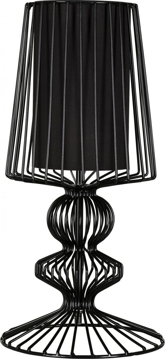 Lampa stołowa Aveiro 5411 Nowodvorski Lighting stalowa czarna oprawa w dekoracyjnym stylu