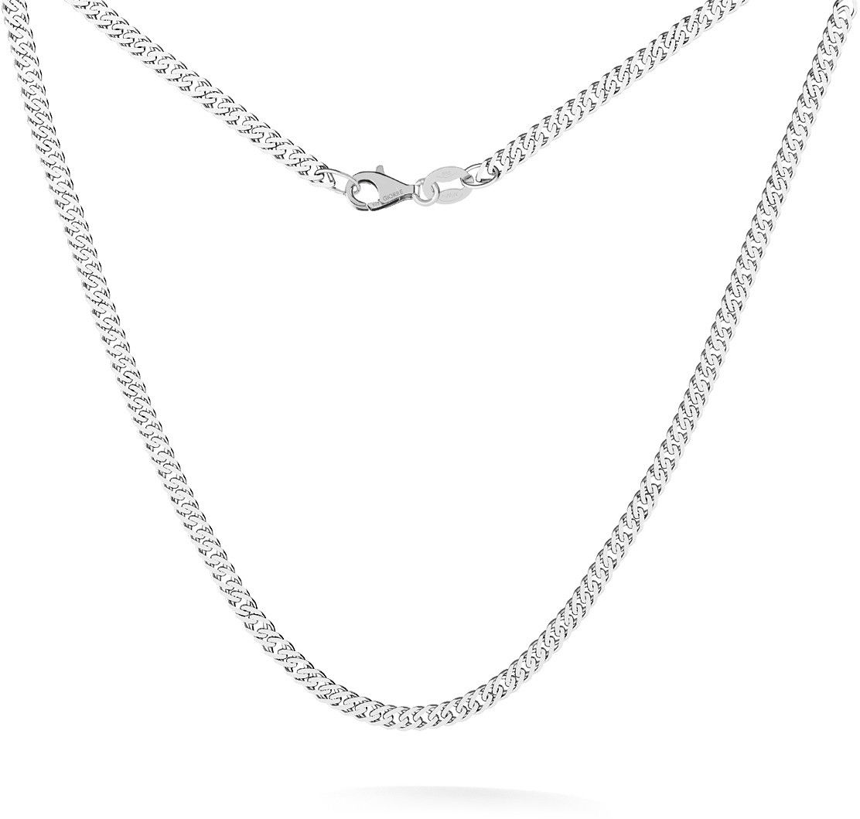 Srebrny łańcuszek romb diamentowany 925 : Długość (cm) - 35 + 5, Srebro - kolor pokrycia - Pokrycie platyną
