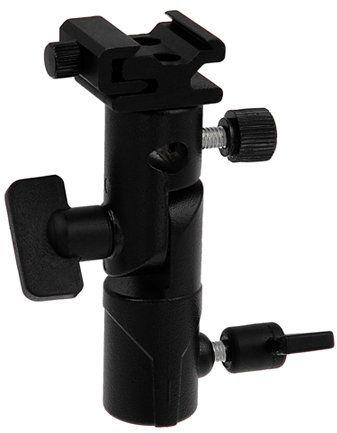 Fotodiox Elite Flash Umbrella Bracket-with Swivel/Tilt Head, Mountable to Light stand and Tripod-fits Olympus Flash FL-36R, FL-50R, Panasonic Flash DMW-FL360 and FL-500