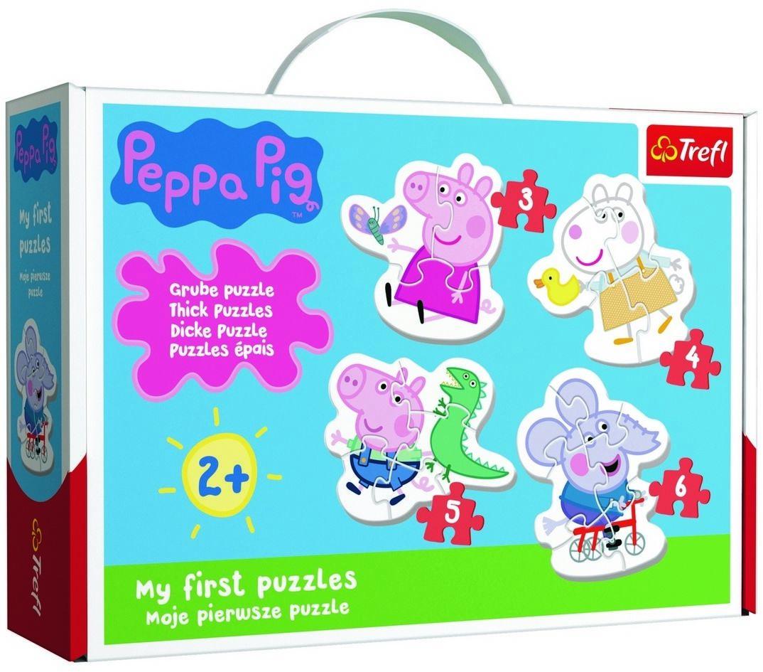 Trefl Baby puzzle Świnka Peppa, 4w1