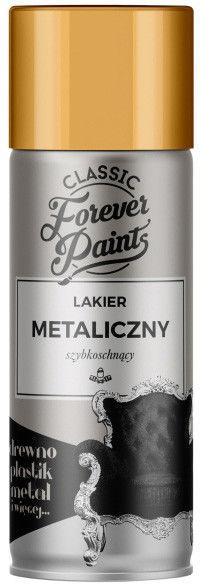 Lakier metaliczny szybkoschnący Forever Paints 400 ml złoty
