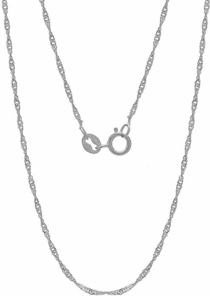 Srebrny łańcuszek skręcany singapur, srebro 925 : Długość (cm) - 50, Srebro - kolor pokrycia - Pokrycie platyną