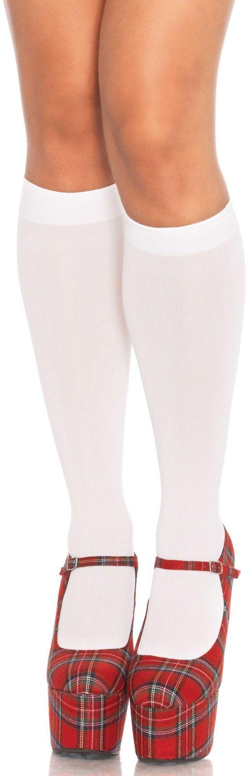 Leg Avenue Nylon Knee Highs 5572 White