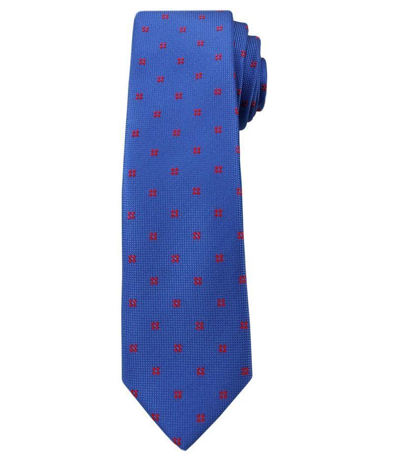 Krawat Męski, Niebieski w Groszki - Angelo di Monti KRADM1387