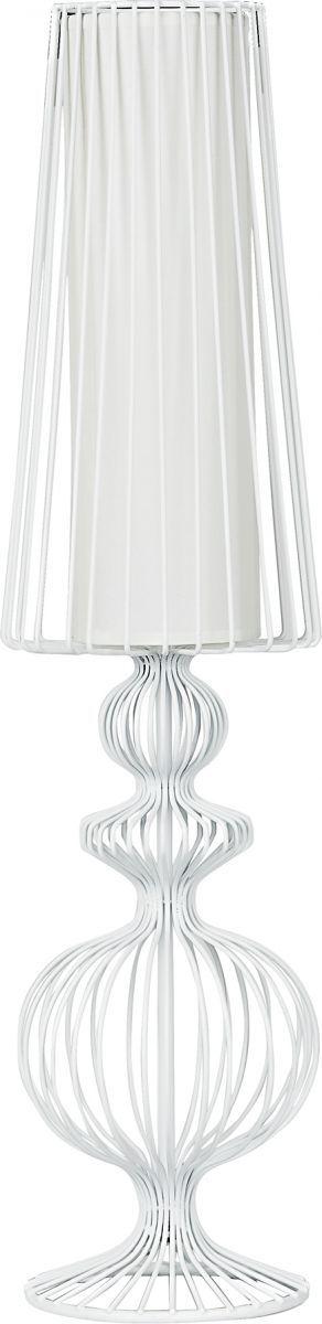 Lampa stołowa Aveiro 5125 Nowodvorski Lighting stalowa biała oprawa w dekoracyjnym stylu
