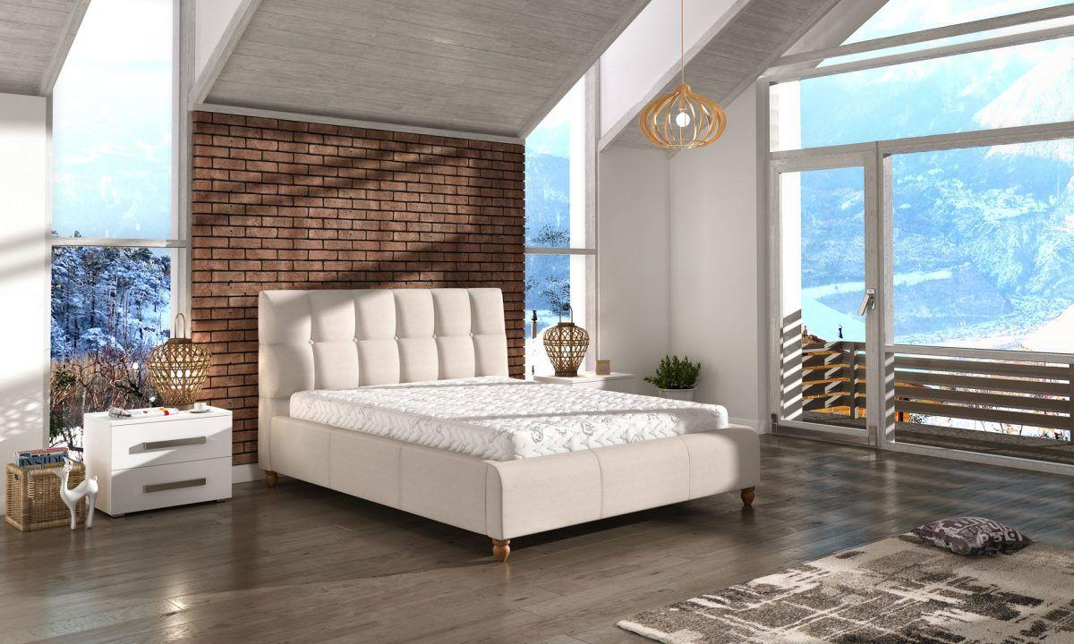 Łóżko tapicerowane ASTON 160x200 - tapicerka do wyboru!