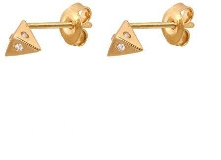 Złote kolczyki na sztyft 45267