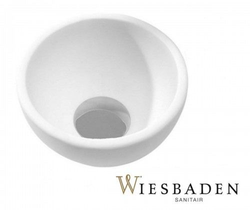 Umywalka mała nablatowa 20x 20 cm TESSA Okrągła, biała