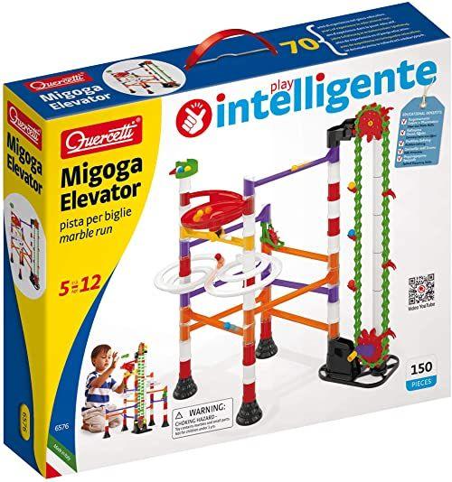 Quercetti 6576 Quercetti-6576 Migoga Marble Run Winda STEM edukacyjna zabawka do nauki, wielokolorowa