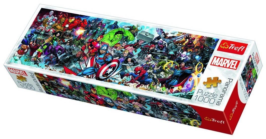 Tref Puzzle Panoramiczne Świat Marvela, 1000 elementów