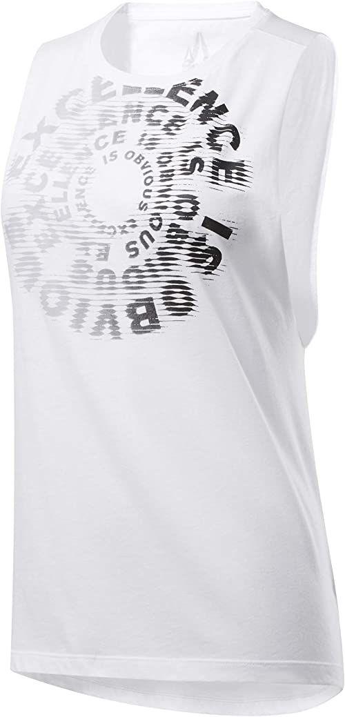 Reebok Cf Excellence Is Obvious Muscle Tank koszulka bez rękawów, biała, XL