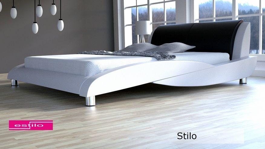 Łóżko tapicerowane Stilo skóra naturalna 200x220