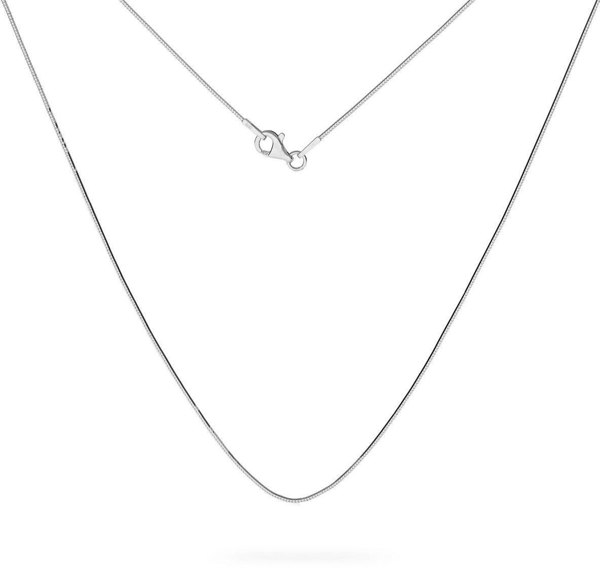 Srebrny łańcuszek linka diamentowana, srebro 925 : Długość (cm) - 50, Srebro - kolor pokrycia - Pokrycie platyną