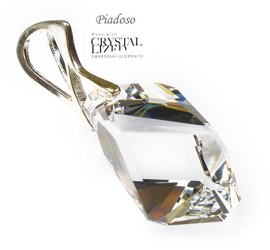 SWAROVSKI wisiorek+łańcuszek SREBRO Crystal
