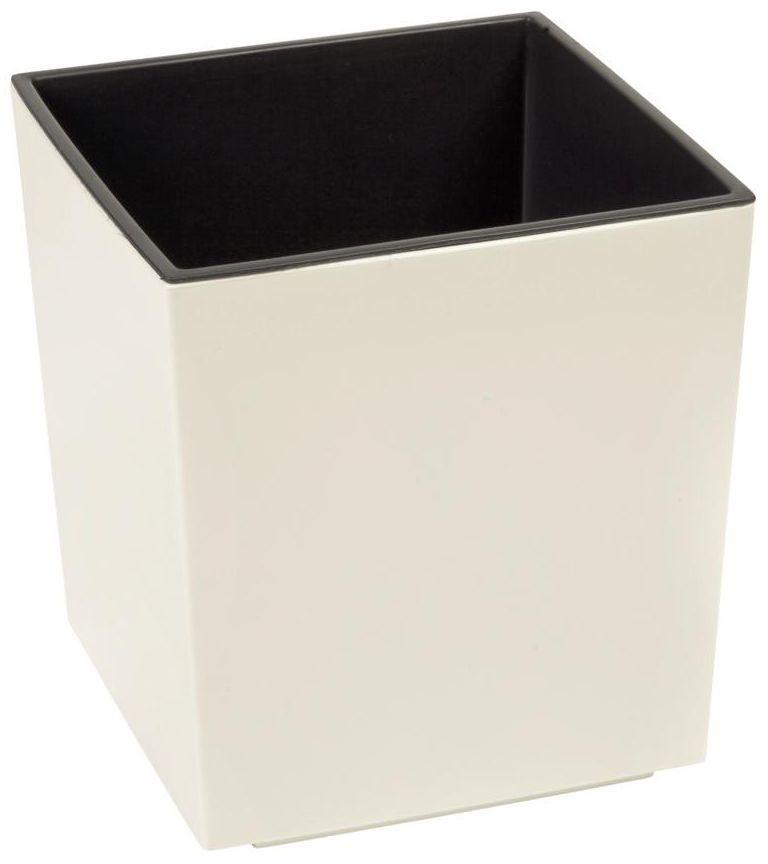 Doniczka plastikowa 19 x 19 cm kremowa JUKA