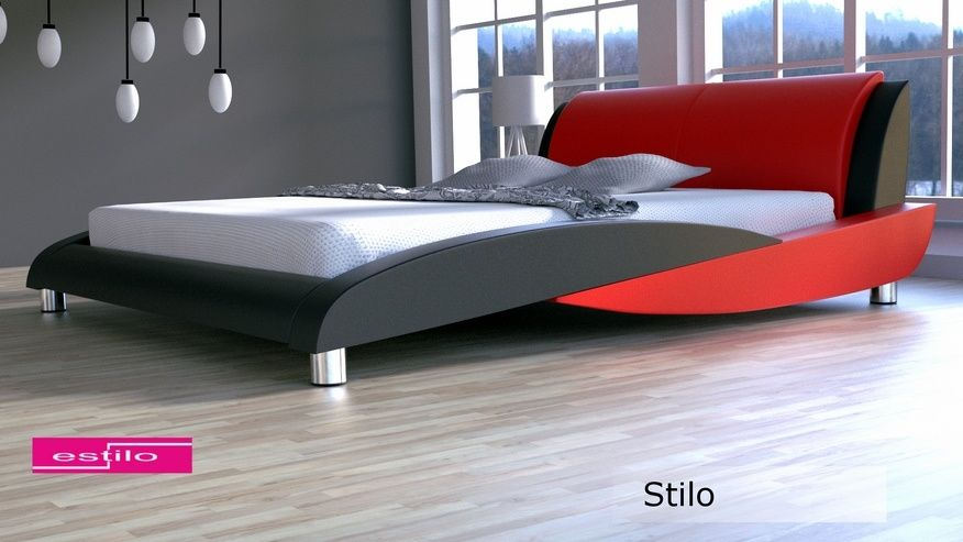 Łóżko tapicerowane Stilo skóra naturalna 200x200