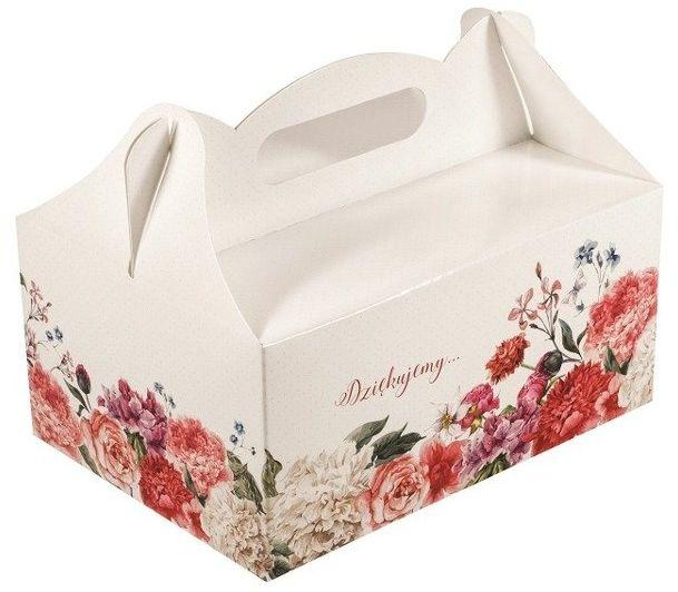 Pudełko na ciasto weselne Dziękujemy 1 sztuka CS06-1x