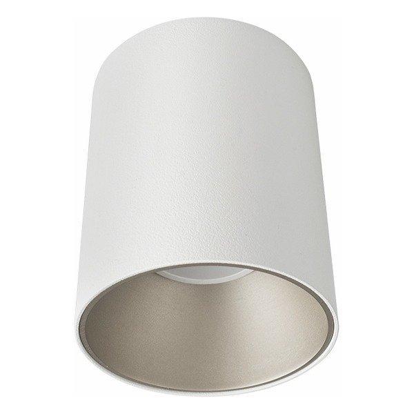 Spot sufitowy designerski tuba EYE TONE biały/srebrny śr. 8,9cm