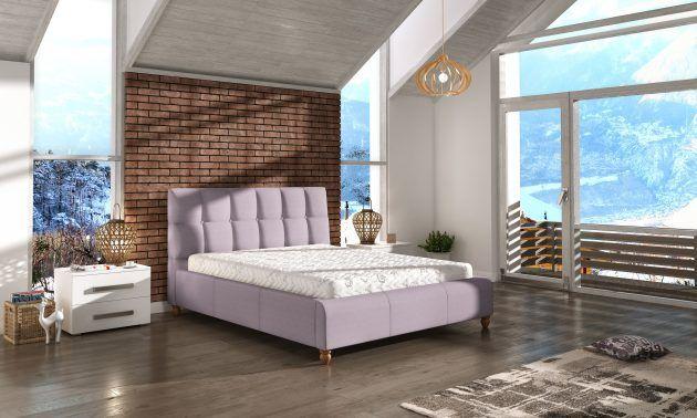Łóżko tapicerowane ASTON 140x200 z pojemnikiem i stelażem - tapicerka do wyboru!