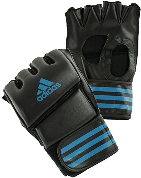 adidas Rękawice MMA Grappling Training Glove, czarne/niebieskie, L
