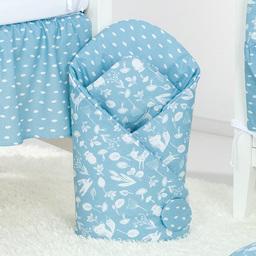 MAMO-TATO Rożek niemowlęcy dwustronny Las jeansowy / plamki jeansowe