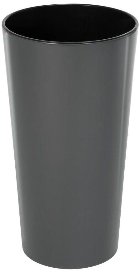 Doniczka plastikowa 19 cm antracytowa LILIA