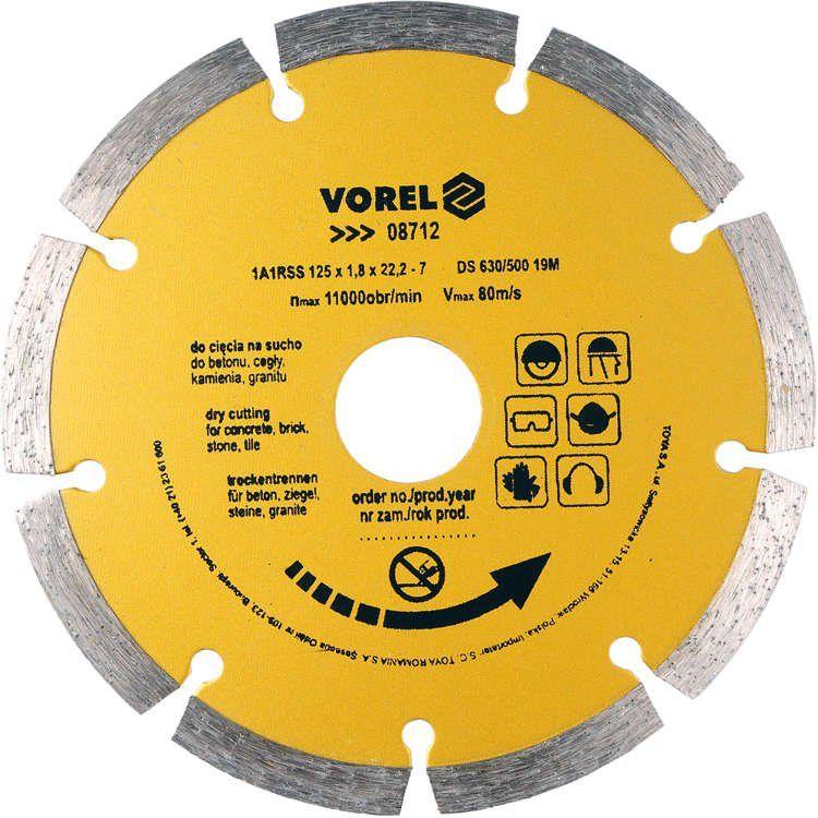 Tarcza diamentowa 125 mm segmentowa Vorel 08712 - ZYSKAJ RABAT 30 ZŁ