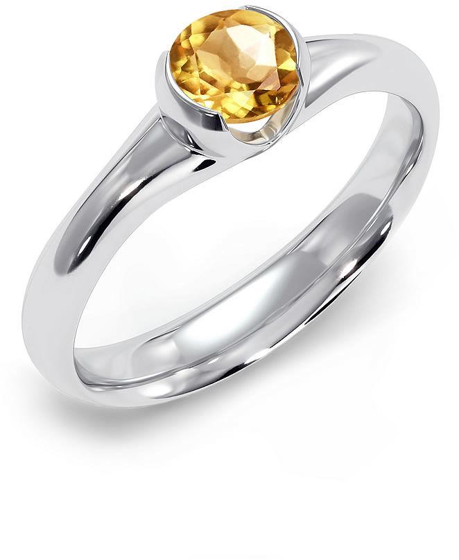 Kuźnia Srebra - Pierścionek srebrny, Cytryn, 3g, model