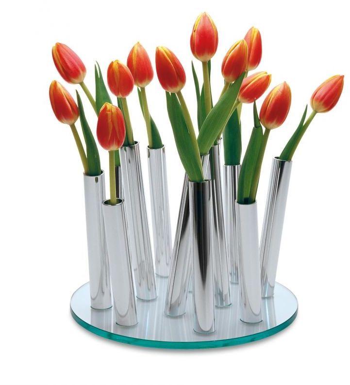 BOUQUET Chrome Vase Wazon D25