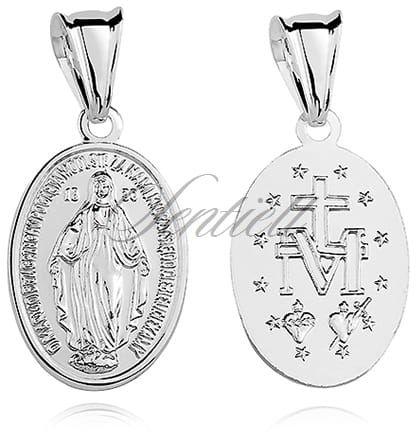Pozłacany cudowny medalik z Matką Bożą Niepokalaną