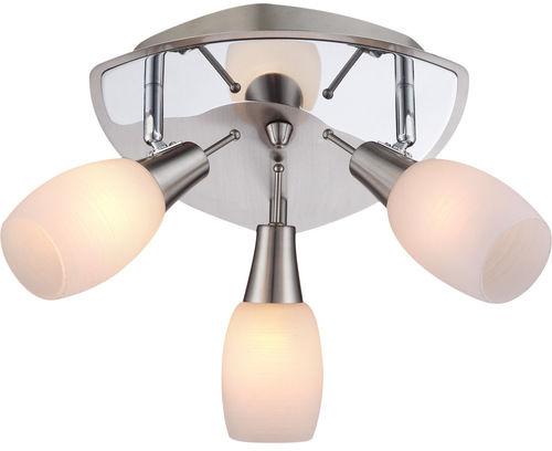 Globo plafon lampa sufitowa Gillian 54983-3 potrójna białe klosze 27cm