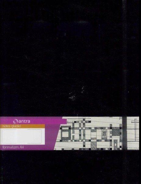 Notes A4 Gładki Formalizm Czarny ANTRA
