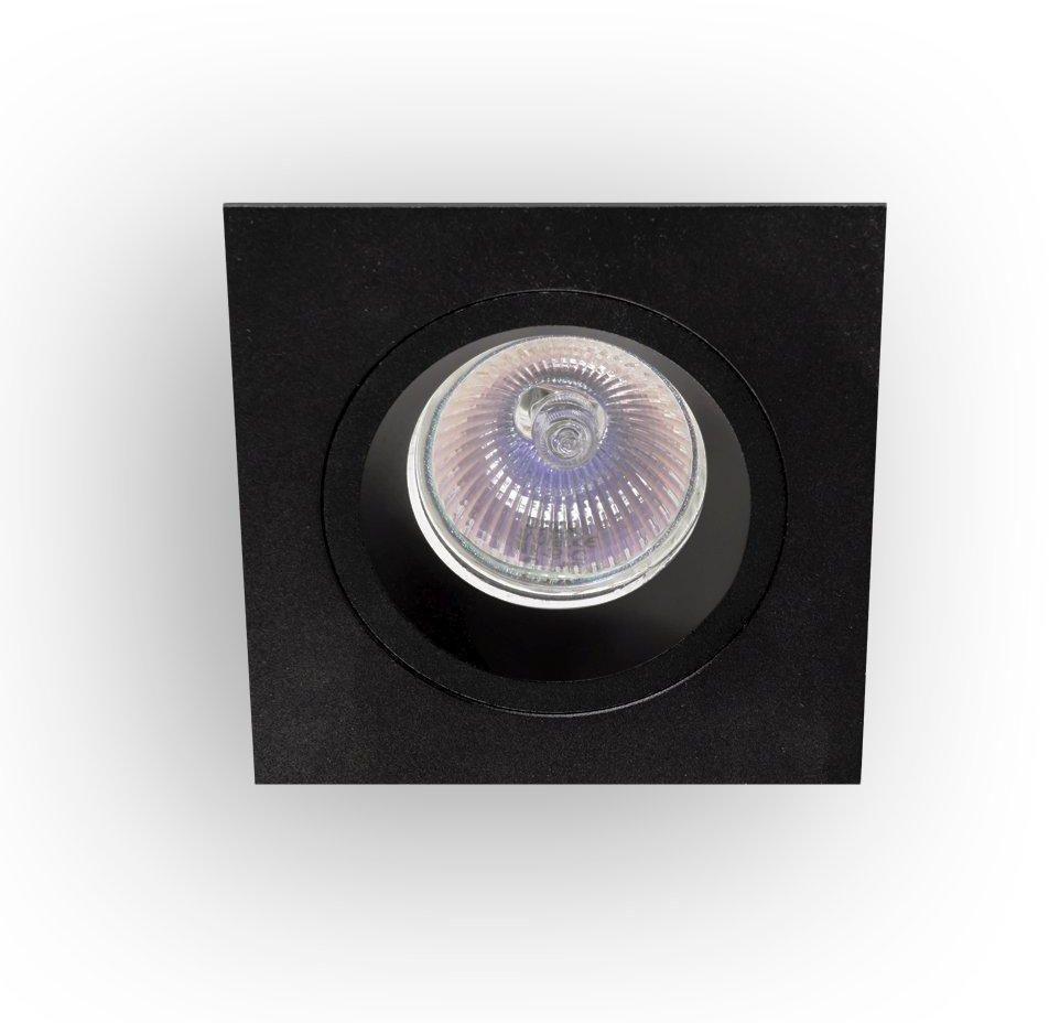 Oprawa halogenowa Osta Nero Orlicki Design kwadratowa oprawa w kolorze czarnym