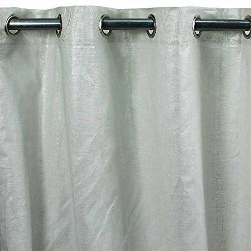 Comete zasłona z bawełny i lnu 140 x 250 monbeaurideau  uniwersalna  biała styl: United