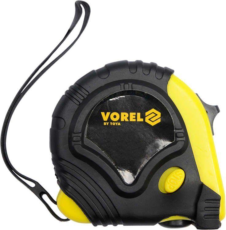 Miara zwijana żółto-czarna 7,5 m x 25 mm Vorel 10128 - ZYSKAJ RABAT 30 ZŁ
