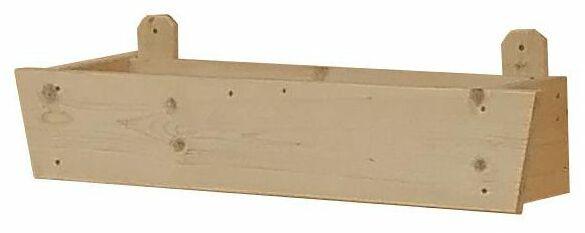 Donica drewniana z osłonką 60 x 20 cm MEGIW