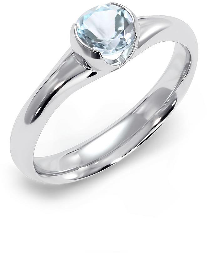 Kuźnia Srebra - Pierścionek srebrny, Niebieski Topaz, 3g, model