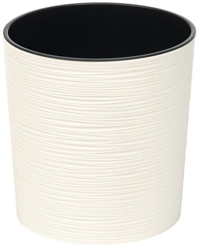 Doniczka plastikowa 30 cm kremowa okrągła MALWA
