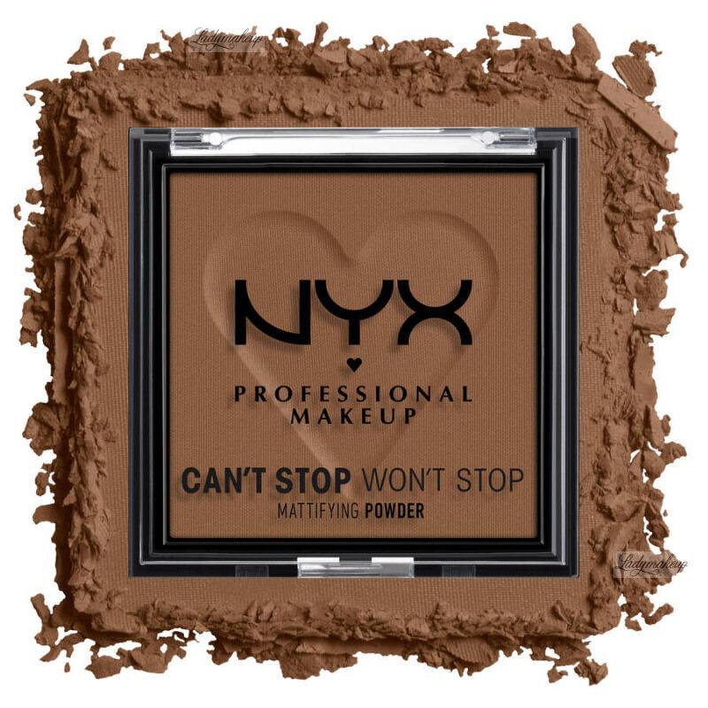 NYX Professional Makeup - CAN''T STOP WON''T STOP - Mattifying Powder - Matujący puder do twarzy - 6 g - DEEP