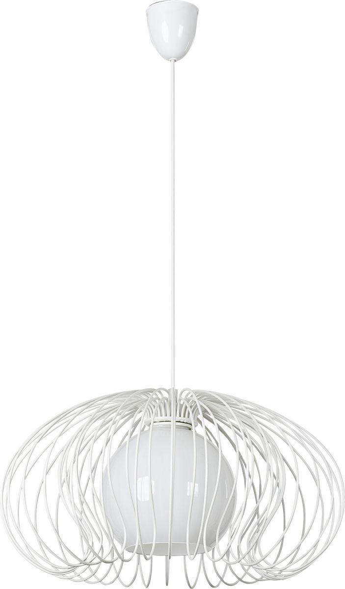 Lampa wisząca Mersey 5295 Nowodvorski Lighting biała druciana oprawa w dekoracyjnym stylu