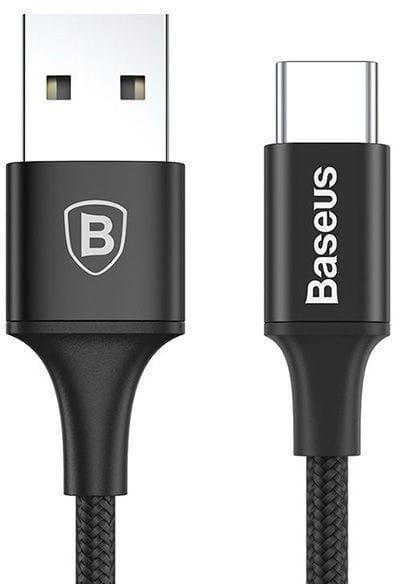 Kabel Baseus Rapid USB-C LED 1m Black