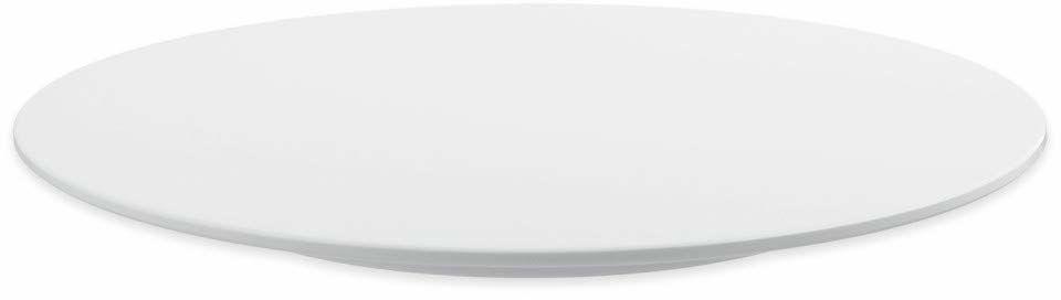 thermohauser Patera na tort z melaminy, biała, okrągła, średnica 30,0 x 2,5 cm, ze stałą nóżką, tworzywo sztuczne